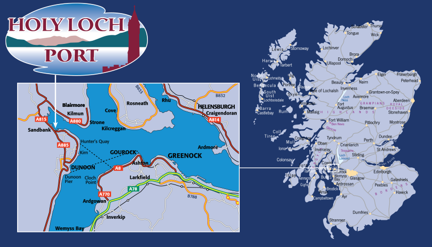 Holy Loch Scotland Map.Contact Information For Holy Loch Port Scotland